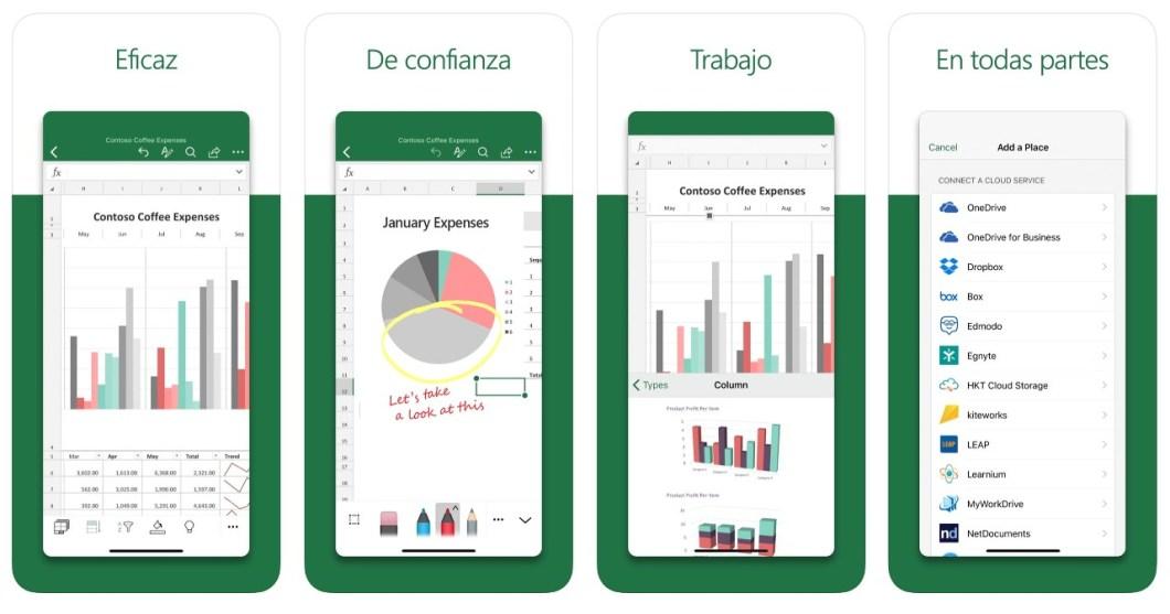 Excel para iPad y iPhone