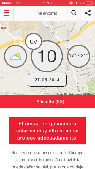 app protección solar Fotoskin