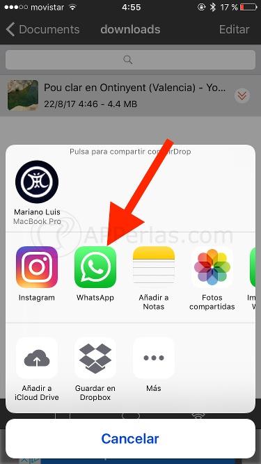 Enviar vídeos de Youtube por Whatsapp