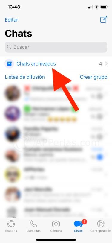 Chats archivados en WhatsApp