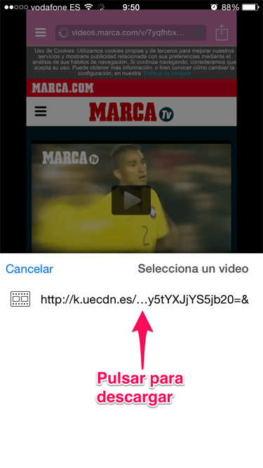 vídeo desde Safari 5
