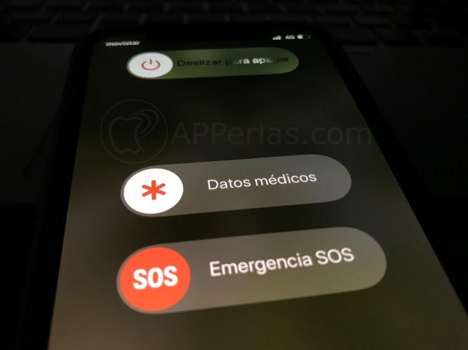 Opciones en pantalla de apagado del iPhone