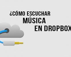 Utiliza Dropbox como tu reproductor de música