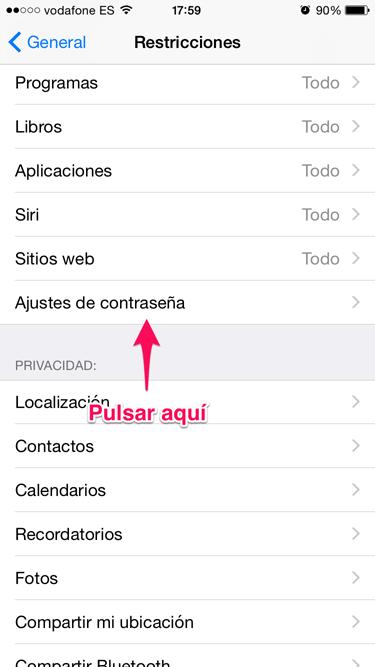 contraseña en app store 3