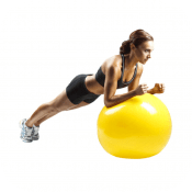 Full-body exercise ball workout