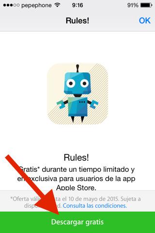 Rules! gratis iOS