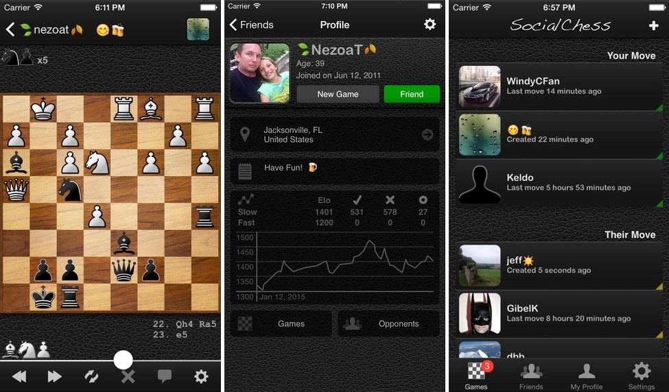 App de ajedrez Socialchess