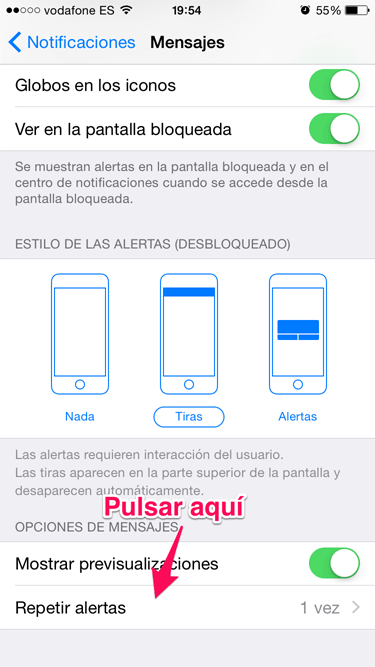 notificación de iMessage 2