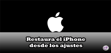 restaurar el iPhone