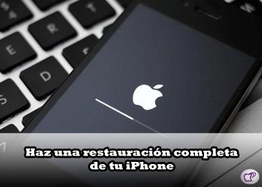restauración completa del iPhone