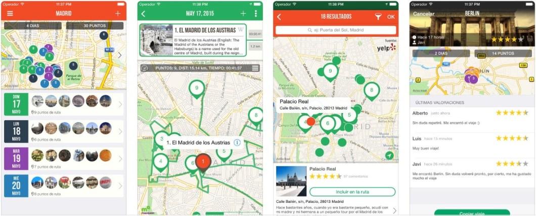 App para crear rutas turísticas