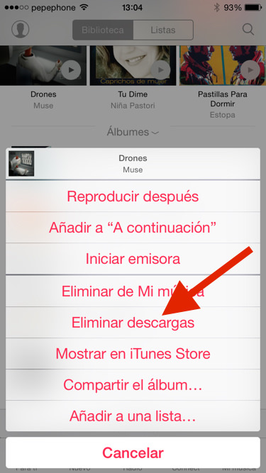 Descargar canciones de apple music en movil