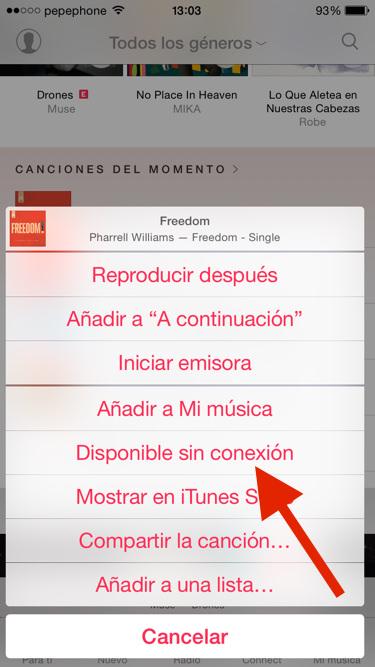 Descargar canciones de apple music en iphone