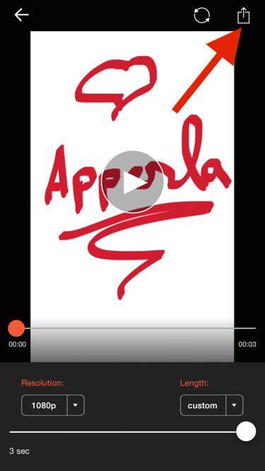 Grabar un vídeo en iOS