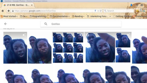 google fotos error gorilas