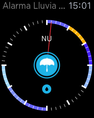 Alarma de lluvia pro watch