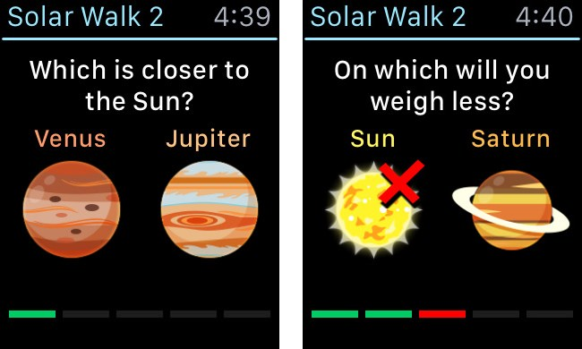 Solar Walk 2 Apple watch