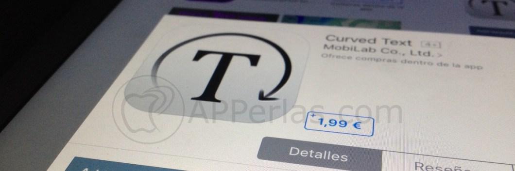 Añade texto curvo con la app Curved text