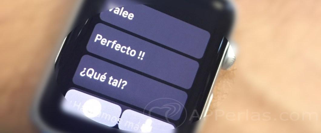 Mensajes personalizados en el Apple Watch