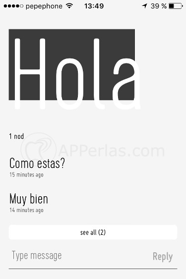 Nod conversaciones app