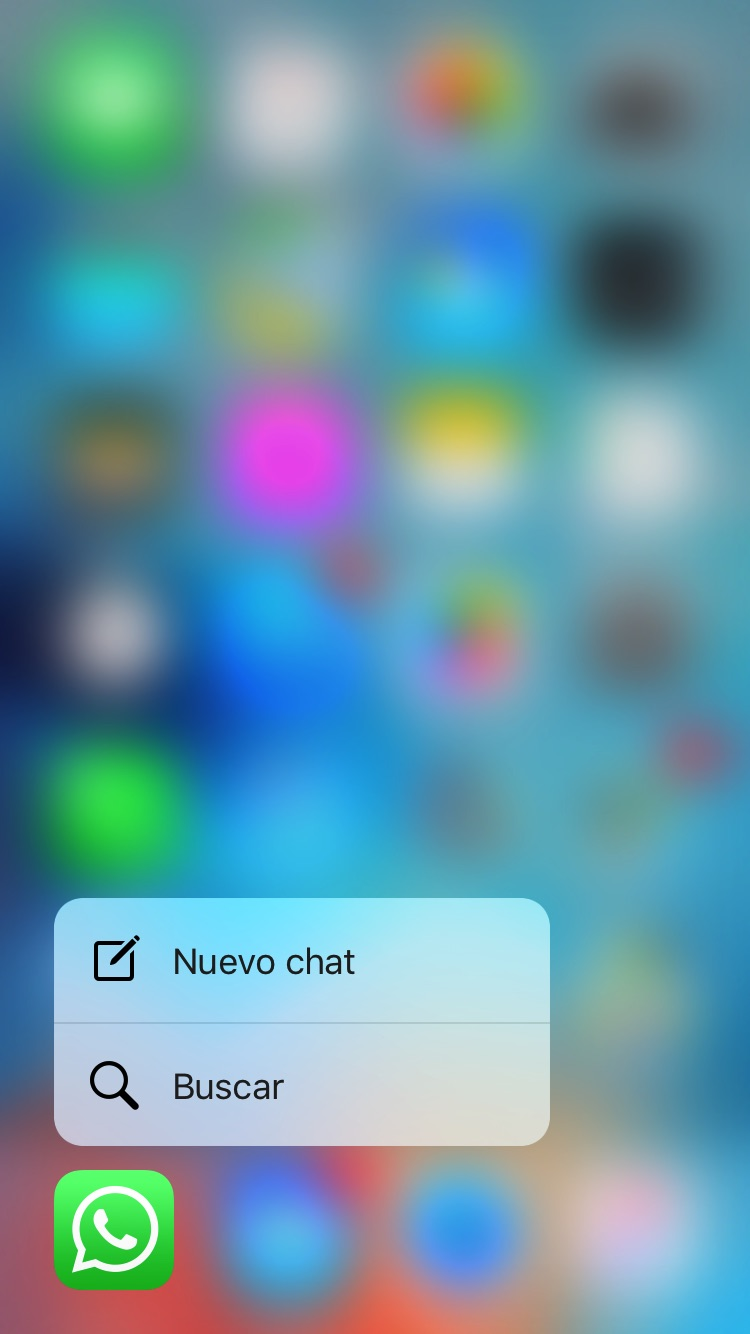 Whatsapp 3D touch 3
