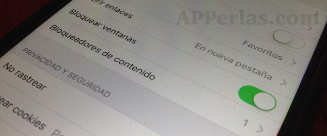 iOS 9 bloqueadores de contenido