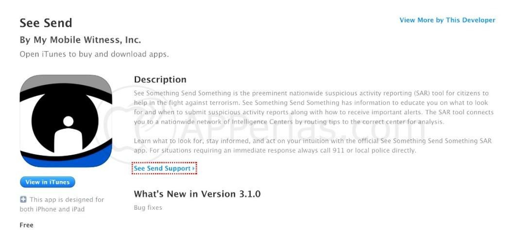 App antiterrorista iPhone