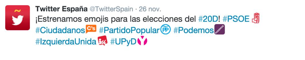 Twitter emoticonos elecciones 20d