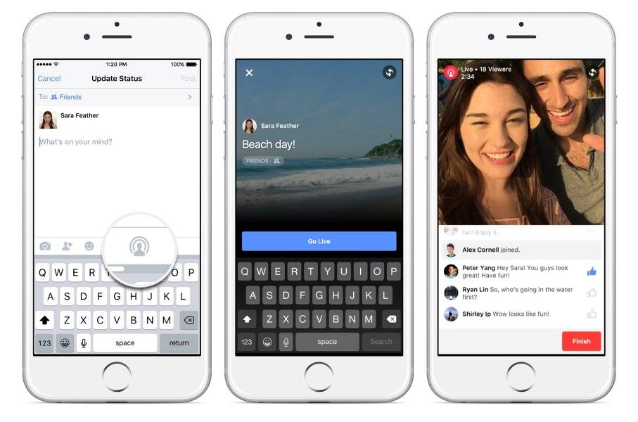 Facebook videos en vivo
