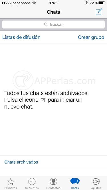 Cómo archivar conversaciones en Whatsapp