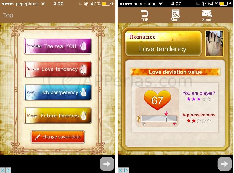 Lee la mano con la app Auto Palmistry