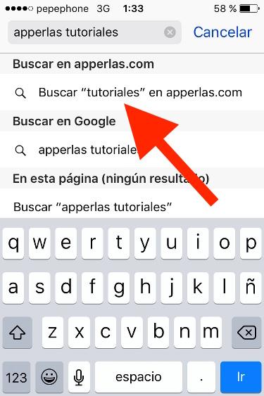 búsqueda de web