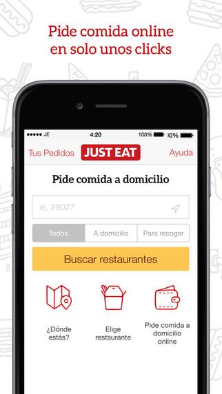 app de comida y bebida Just eat