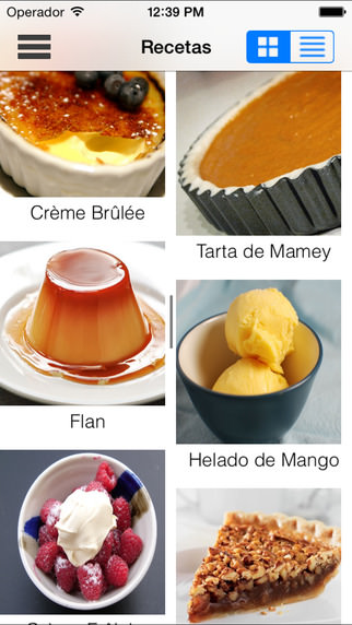 app de comida y bebida Pastelero pro