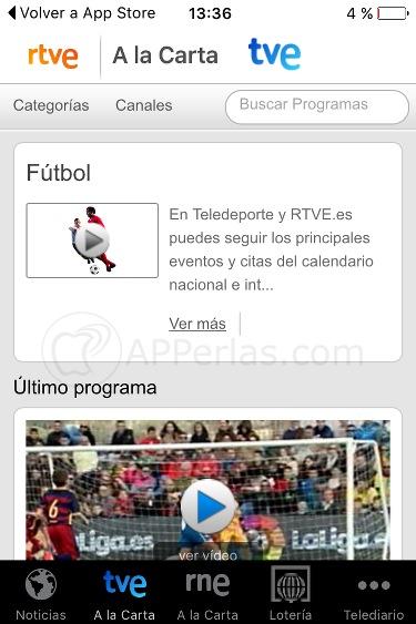 Ver fútbol en iPhone y iPad