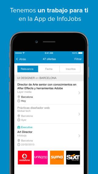 InfoJobs app para buscar trabajo