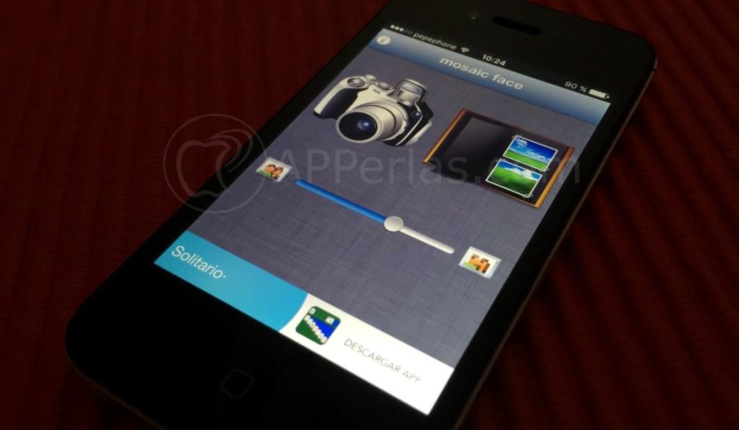 Mosaic face app para pixelar una cara