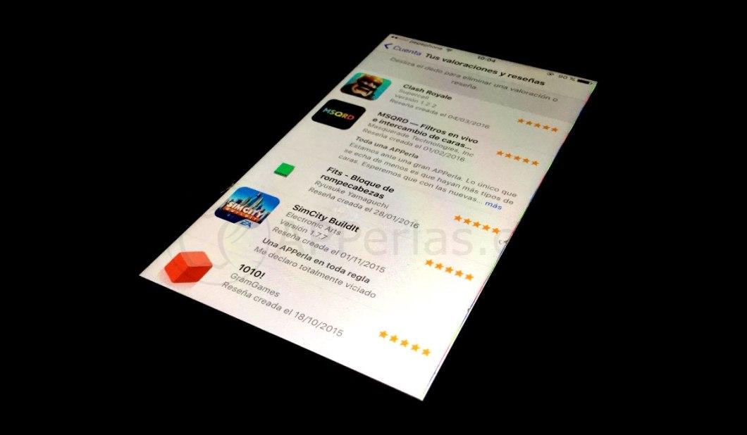 Opiniones sobre apps