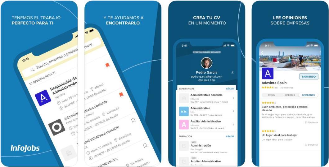 Aplicación para buscar trabajo Infojobs