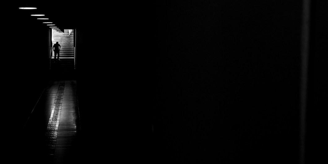 selfie en la oscuridad