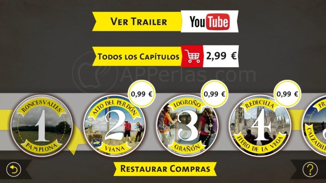 Camino de Santiago 360º etapas de pago