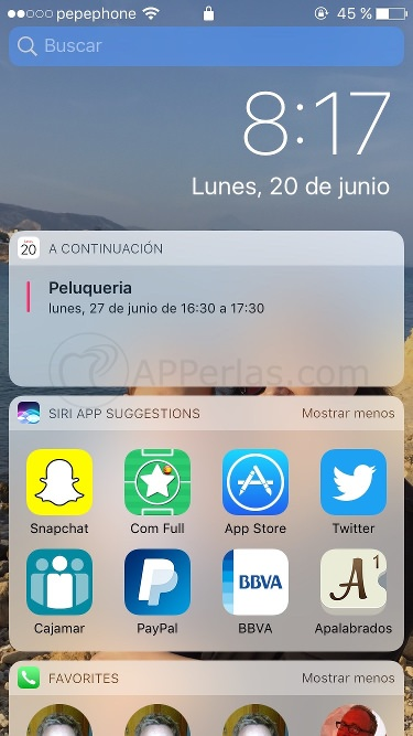 Notificaciones de iOS 10 y Widgets