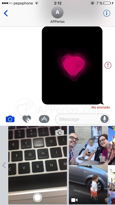 Fotos imessage en ios 10