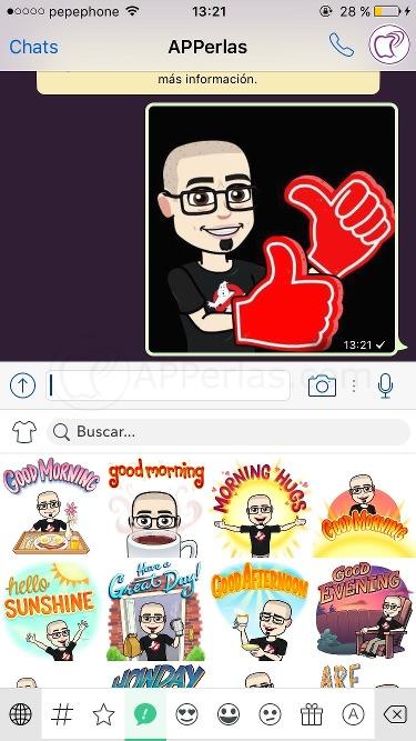 Bitmoji whatsapp