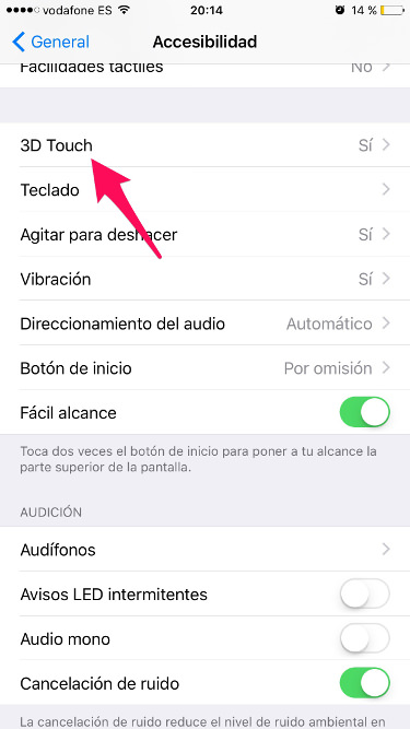 3D Touch en el iPhone 1