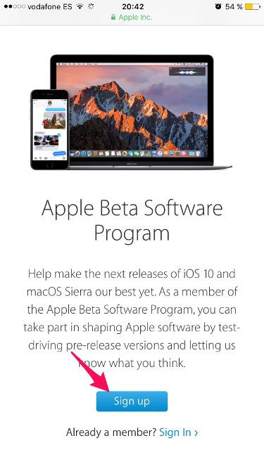 beta pública de iOS 10 2