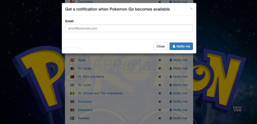Aparición de Pokemon GO en España