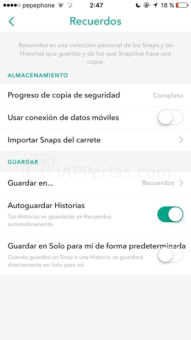Recuerdos de snapchat 5