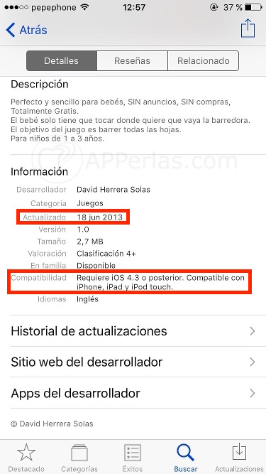 App obsoleta