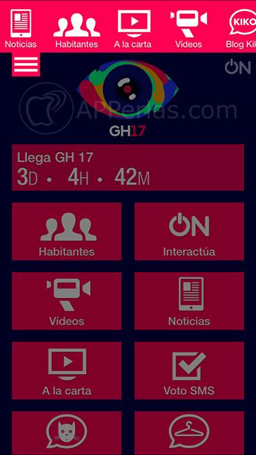 Gran Hermano 17 aplicación oficial 3